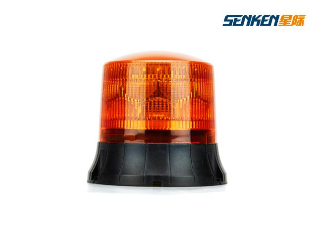 Emergency Vehicle LED Warning Beacon with Amber Dome