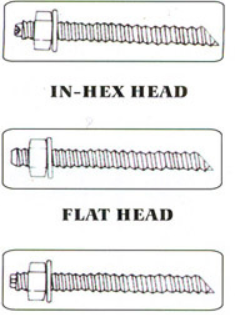 Chemical Anchor Bolt External Hex Head with Setting Tools