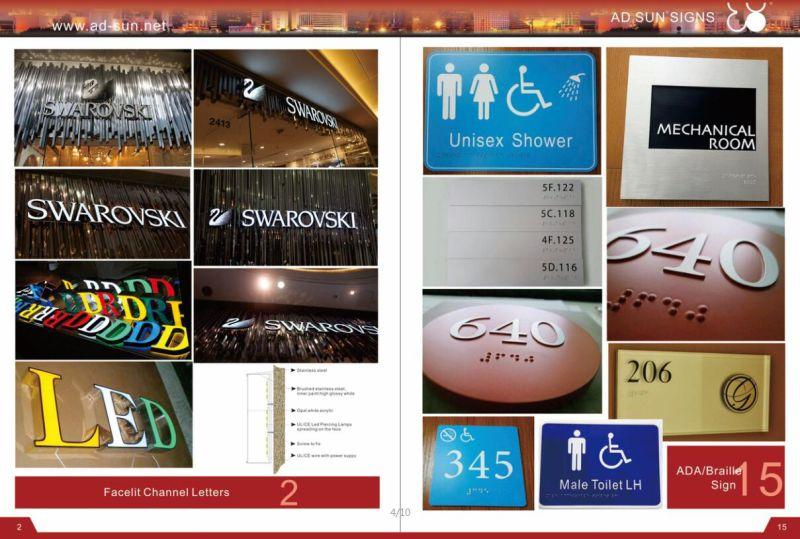 LED Lighting Acrylic Letter Sign Channel Lighting Storefront Sign Wholesale LED Advertising Signs Hot Storefront 3D