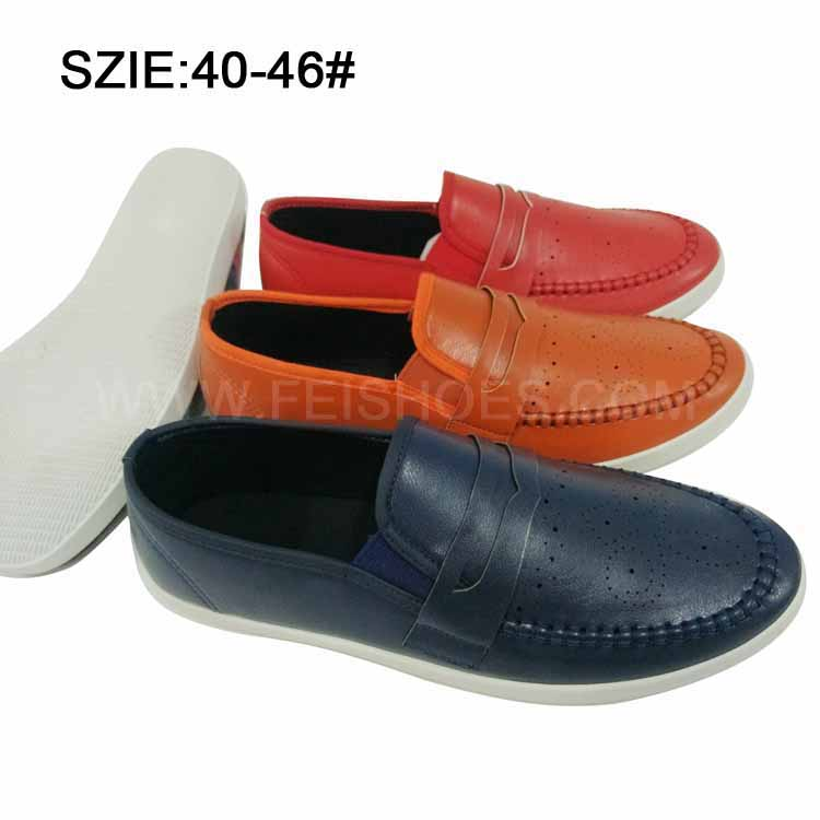 New Style Men's Slip on Suture Breathable PU Casual Shoes (MP16721-19)