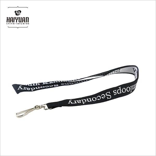 Custom Polyester Lanyard Strap with Woven Logo Short Delivery Time