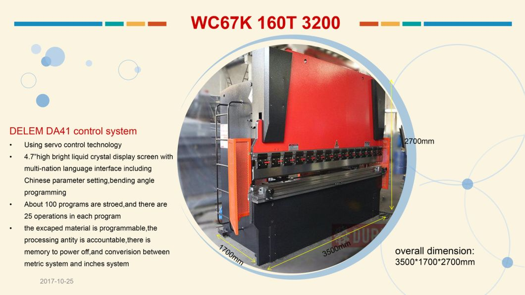 Wc67K Series Hacol Press Brake, Hydraulic CNC Press Brake