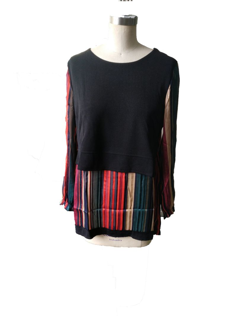 spring Fashion Striped Colourful Elegant Women's T-Shirt