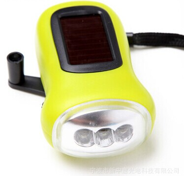 3LED Solar Crank Torch