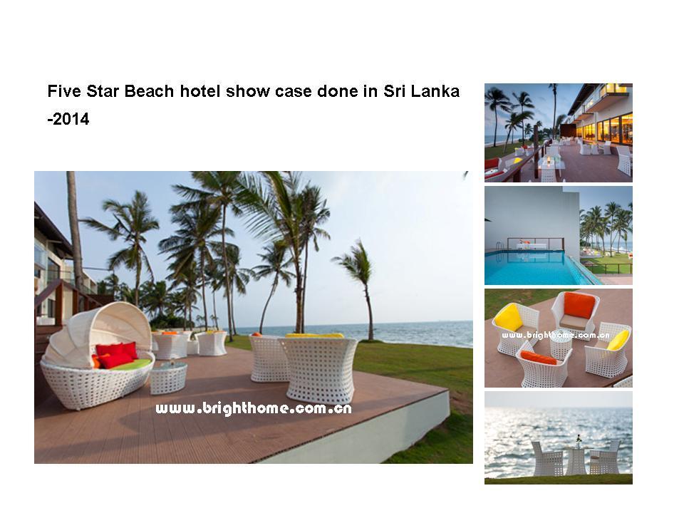 New Design Ocean Series Leisure Wicker Rattan Outdoor Dining Set Furniture