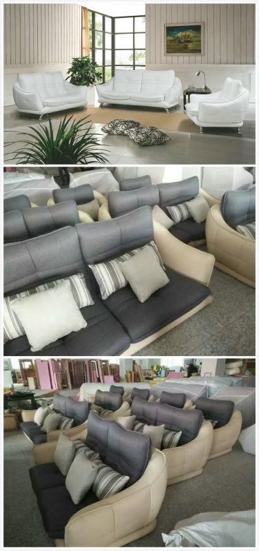 White Modern Leather Sofa, Modern Furniture, Factory Price Good Quality (621)