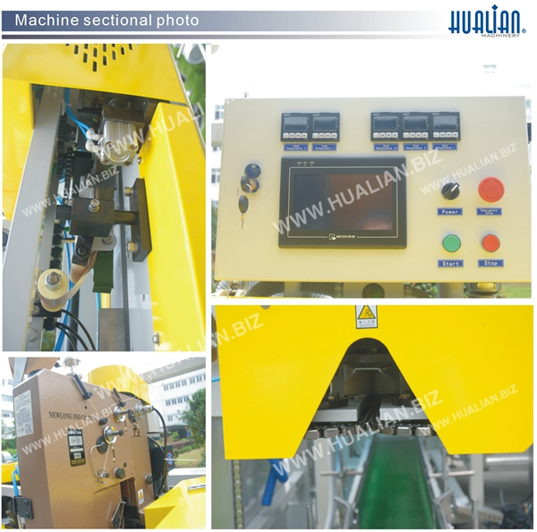 Hualian 2015 One-Line Sealing and Stitching Automatic Packaging Machine (FBK-14C)