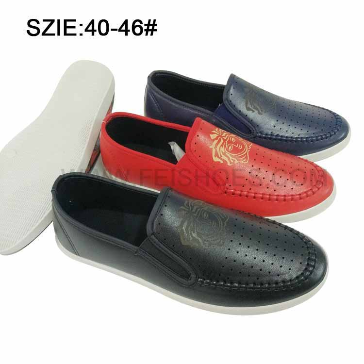 Latest Low Price Men's Slip on Injection Casual Leather Shoes