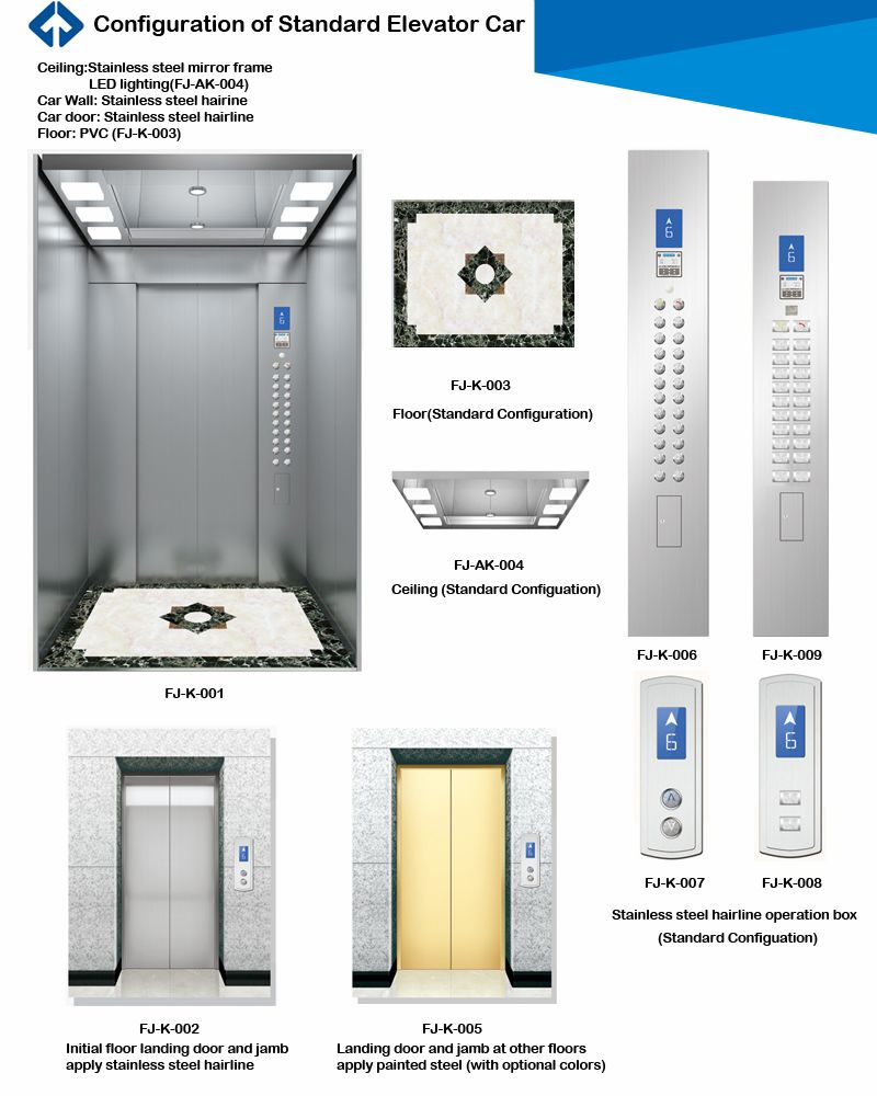 1000kg Passangar Elevator Price