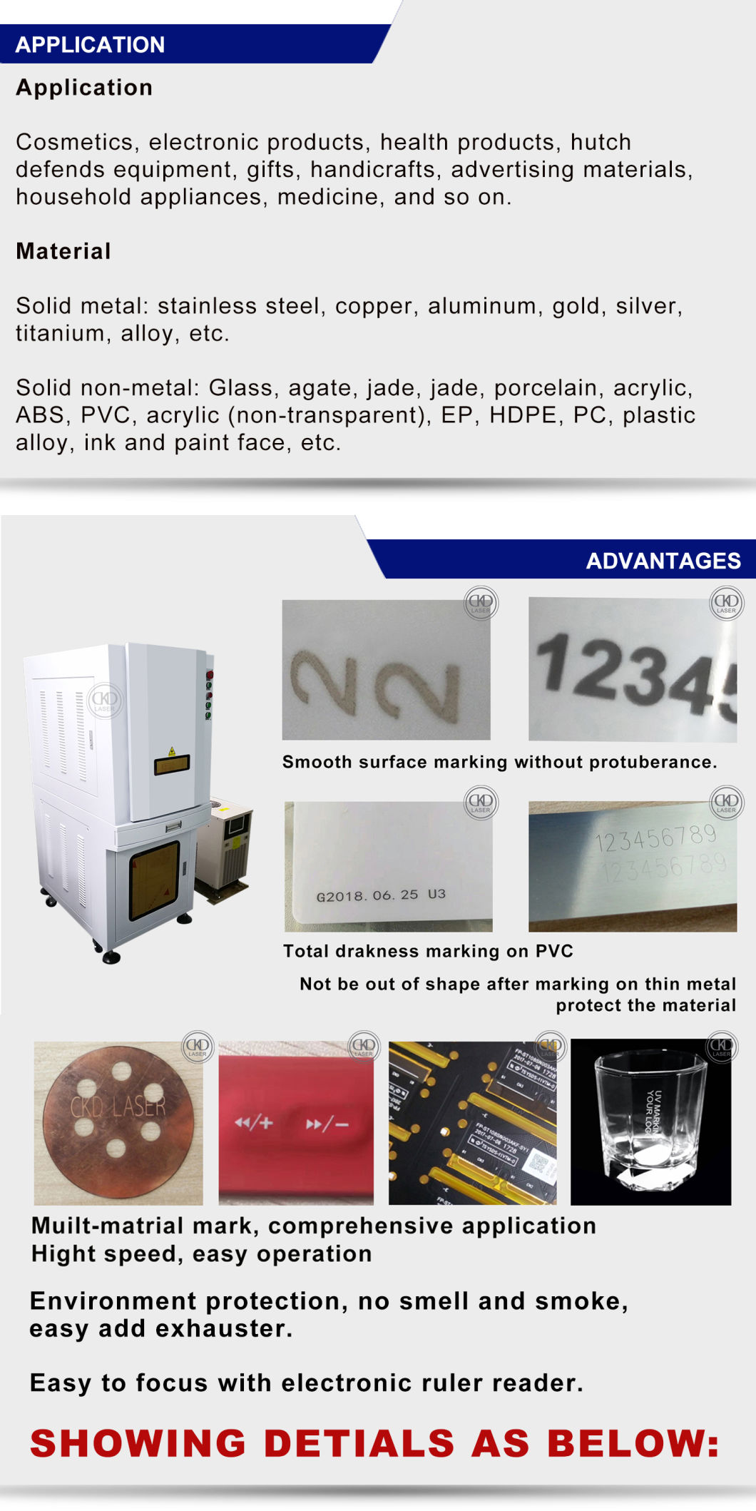 UV Laser Marking Machine on Glass Ruber Sleeve Leather PVC PP PE PCB ABS Logo Series Number Produce Date Cystale Jade Metal Mark