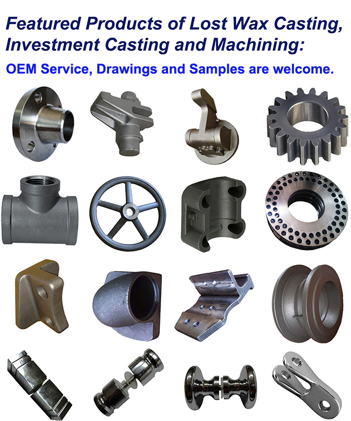 OEM Custom Steel Casting Machining Machinery Parts