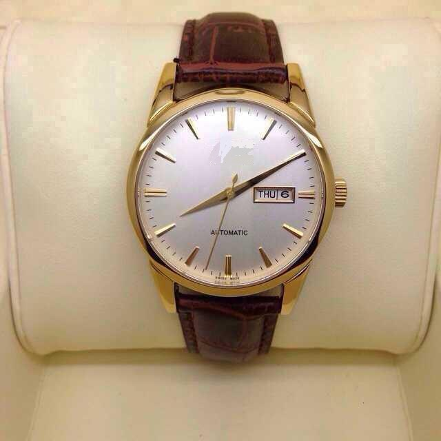 Mens Ss Watch Yellow Gold Placted
