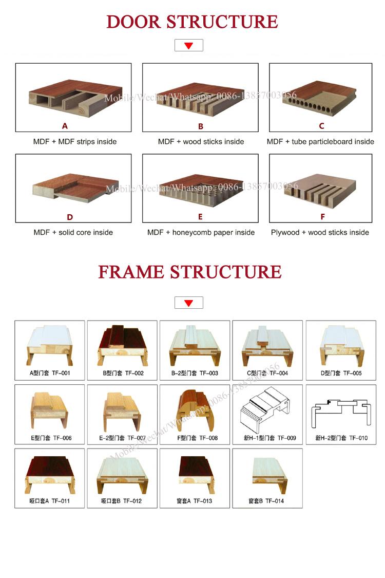 Popular Design MDF Wood PVC Assembled Door