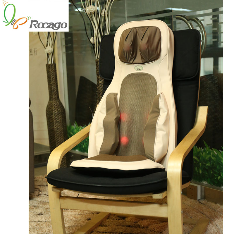 Neck Back Hip Heating Kneading Tapping Massage Cushion Body Massager