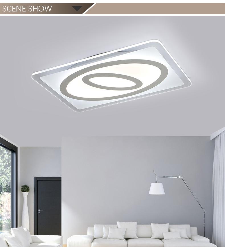 Modern Square Ultra Slim Indoor Lighting LED Ceiling Light Crystal