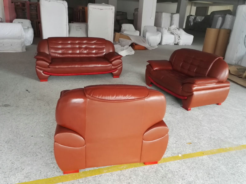 Living Room Leather Sofa for House (A1108)