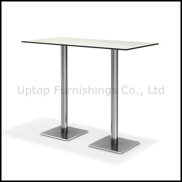 Two Legs Compact Long Bar Table for 4-6 People (SP-BT673)