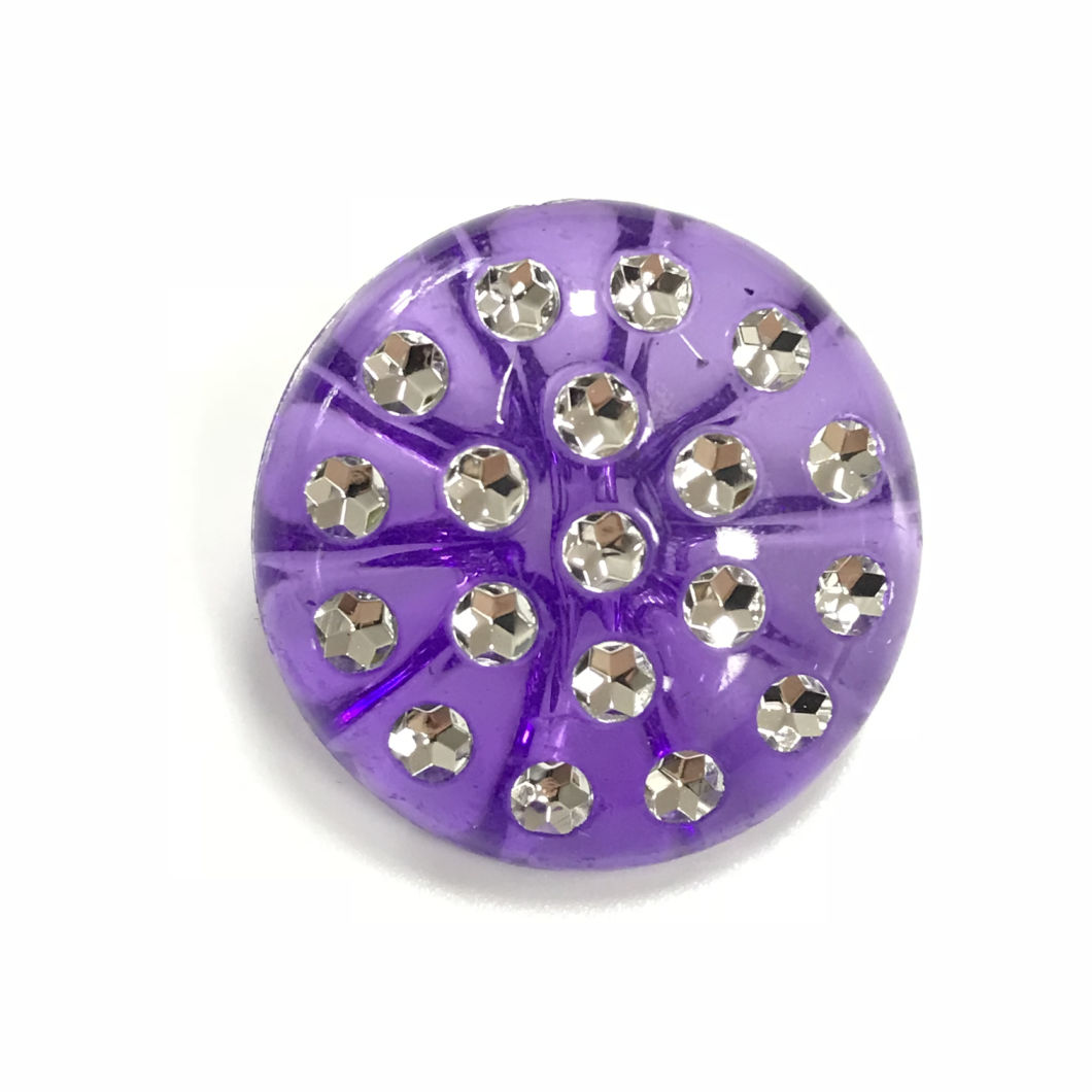 Candy Colored Acrylic Crystal Buttons