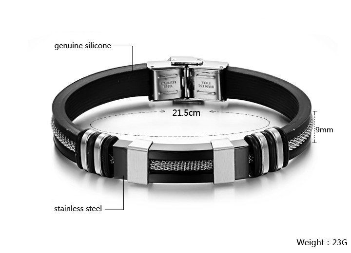 Fashion Jewelry Rubber Bracelet Silicone Bracelet (LB201)