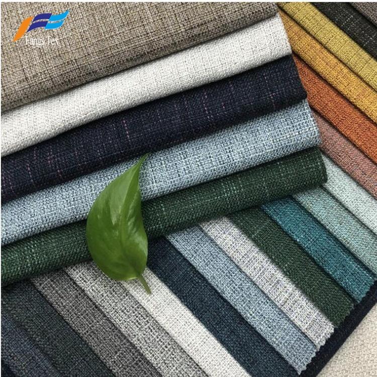 2019 New Design Eco-friendly Upholstery Linen Sofa Fabric