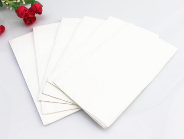 Square Wedding White Napkin