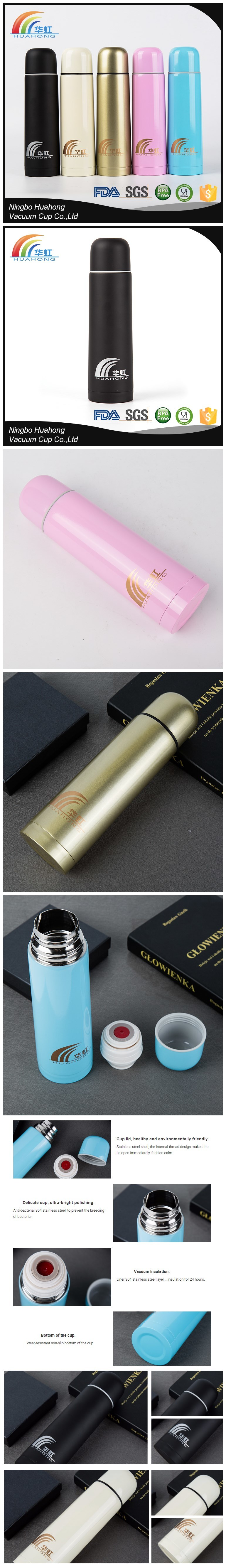 Bullet Water Bottle Insulated Stainless Steel Drinking Cup Vacuum Flasks