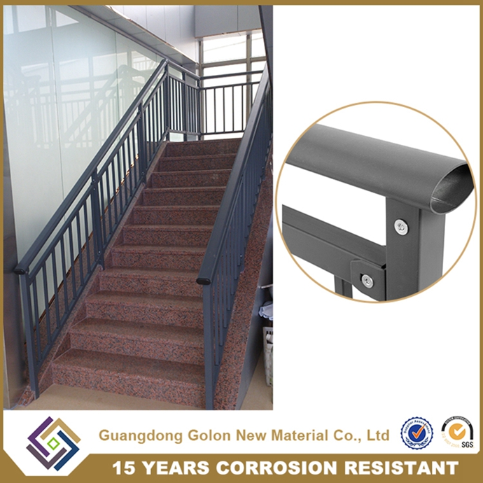 Easy Assembled Low Carbon Steel Aluminum Exterior Stair Railing Balustrade