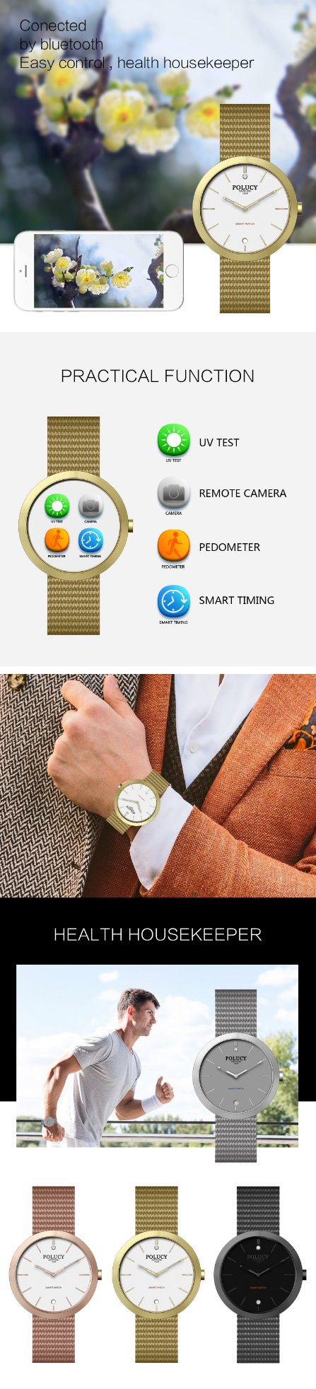 Mesh Band Smart Watch