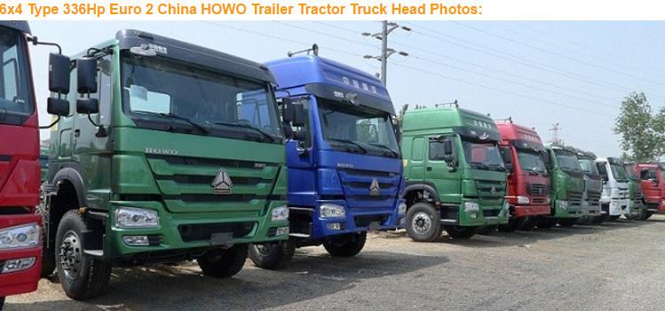 HOWO 6X4 30ton Loading Heavy Duty Tractor Trucks for Djibouti