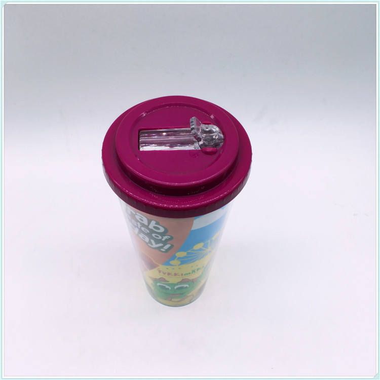 12oz/16oz Cup Disposable Colorful Plastic Coffee Mugs for Promotion