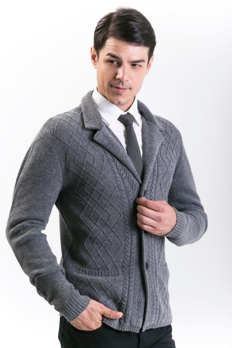 Men's Fashion Cashmere Blend Sweater 18brawm012