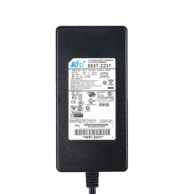 for HP 0957-2231 Deskjet Printer Power Adapter PSU 32V 375mA 16V 500mA