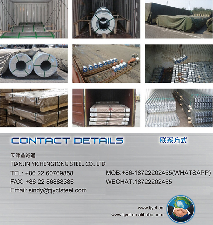 6FT/8FT/10FT/12FT Galvanised Corrugated Steel Sheet Galvanized Steel Sheet Metal Standard Sheet Size