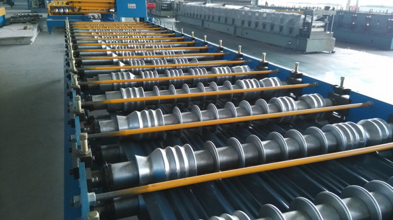 Glazed Roofing Steel Tile Making Roll Forming Machine