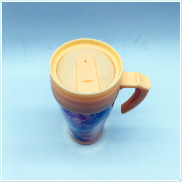 Reusable Personalized Double Wall Coffee Mug Plastic Coffee Cup