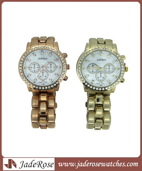 Rosegold Classic Alloy Waterproof Watch for Gift