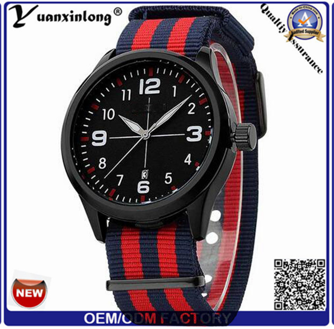 Yxl-497 Stainless Steel Case Nylon Strap Japan Quartz Movement 3ATM Water Resistant Nylon Band Watch Sport Casual Men Watch Wrist
