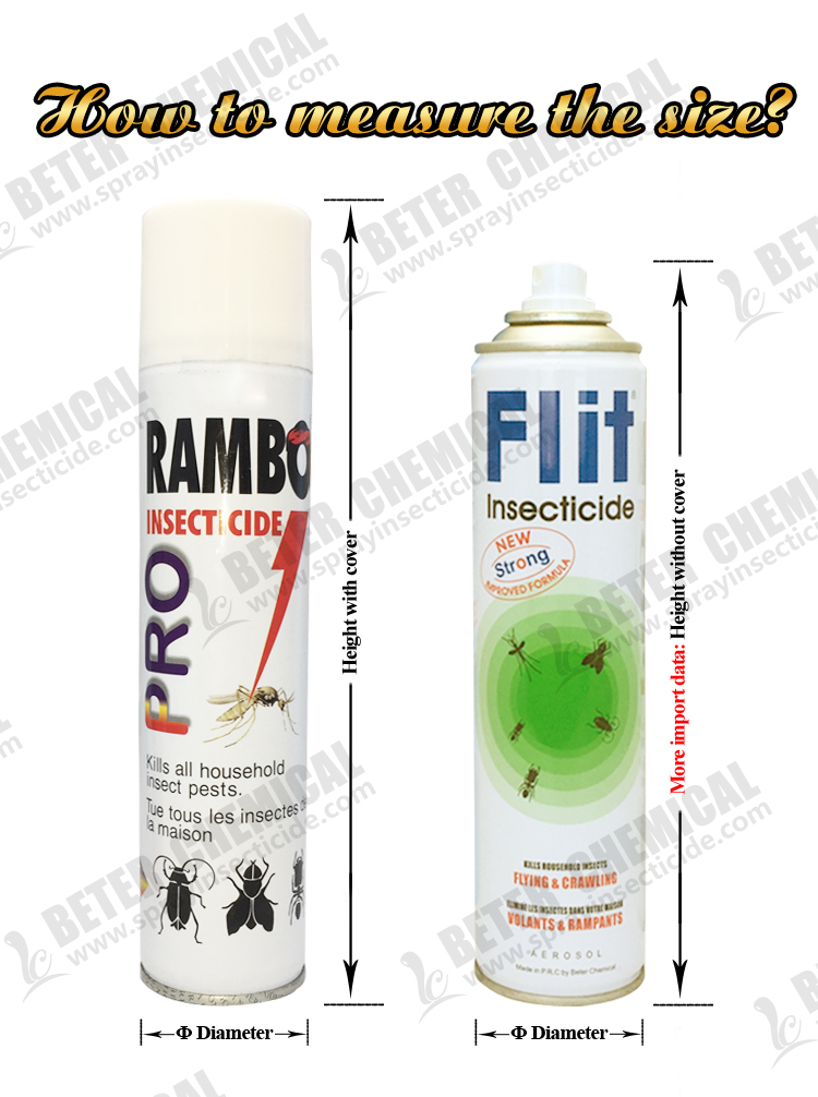 600ml OEM Powerful Mosquito Killer Price Preferential Insecticide Spray