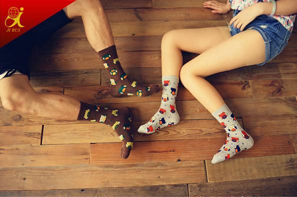 Cartoon Cute Pattern Fancy Soft Couple Socks