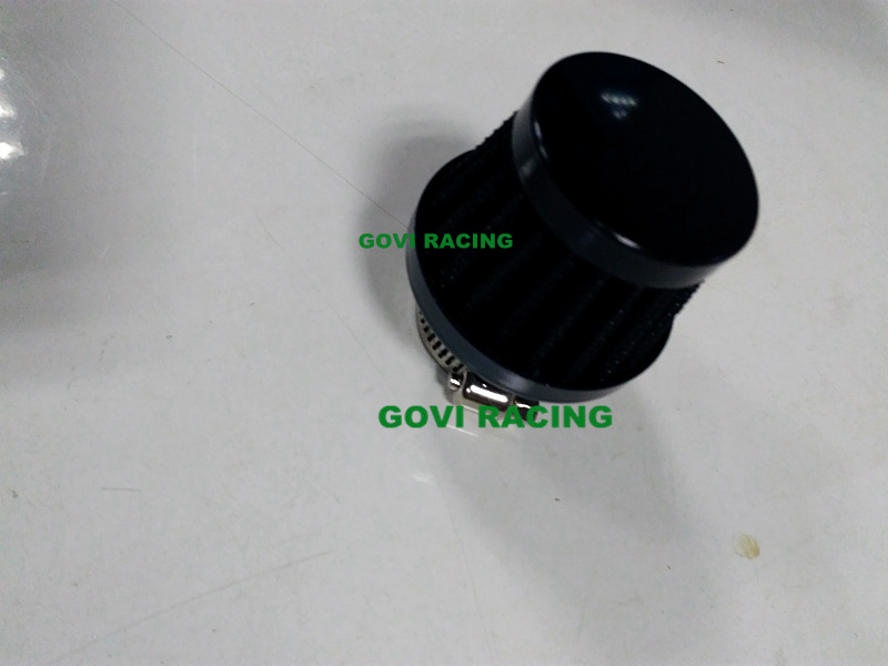 Black 15mm Car Air Breather Filters for Motorcycle Air Intake Pipe