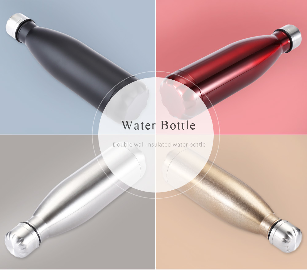 350ml/500ml Double Wall Stainless Steel Vacuum Insulated Cola Shape Sports Water Bottle