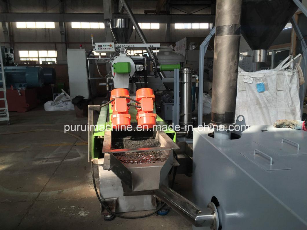 Plastic PE, PP Bottle Regrind Material Granulating Machine