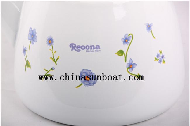 Enamel Vintage Round Teapot with Handle