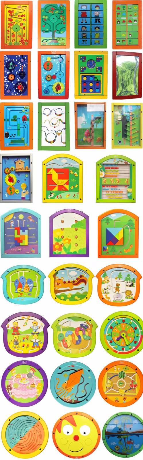 Wood Educational Wall Mounted Play Board for Children Learning