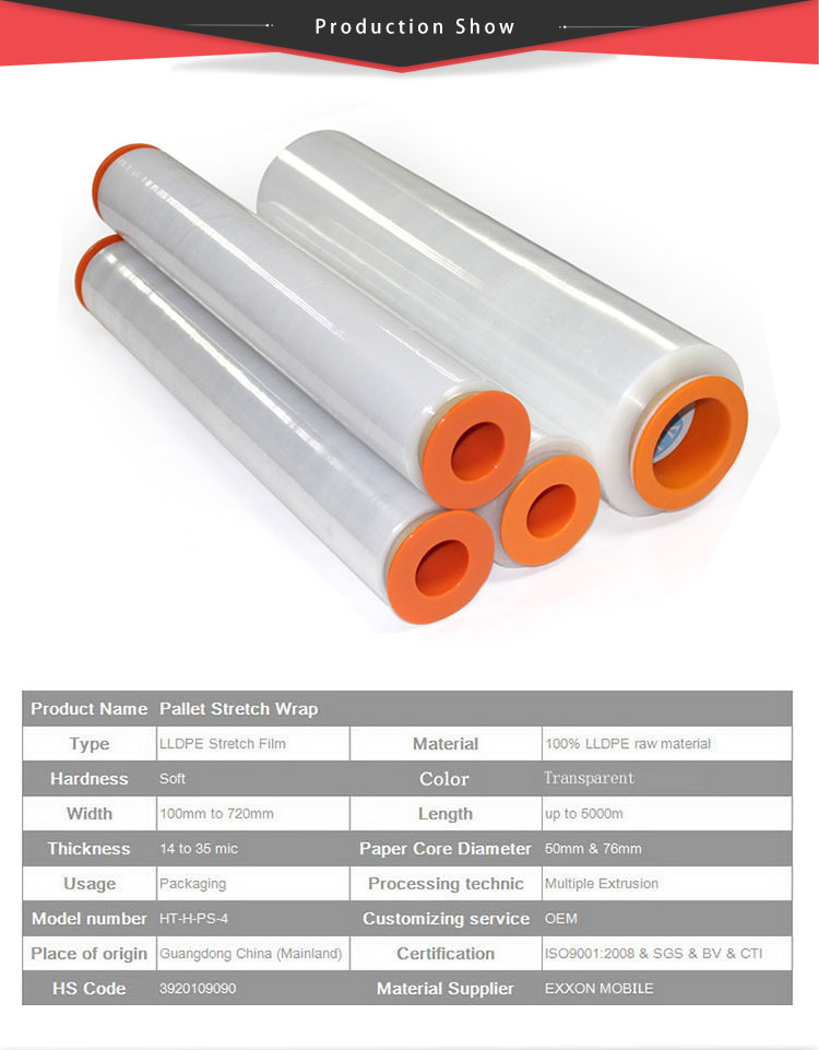 Wrapping Film Roll/Wrapping Plastic Roll