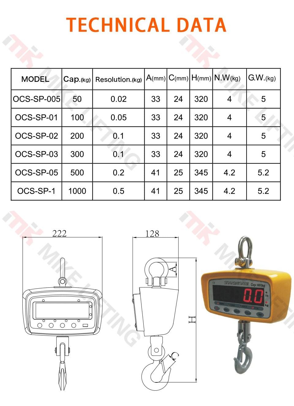 Digital Lifting Crane Weight Scale