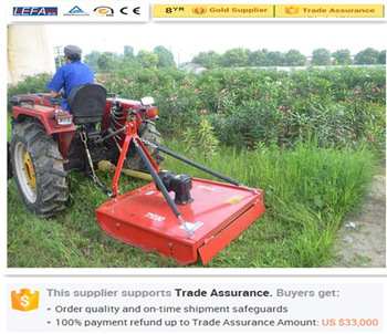 Farm Grass Cutter Topper Mower Approved Ce Certificate