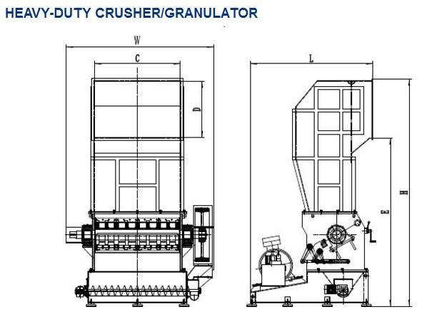 Plastic Granulator/PE Crusher/Heavy Duty Crusher of Recycling Machine with Ce PC52100