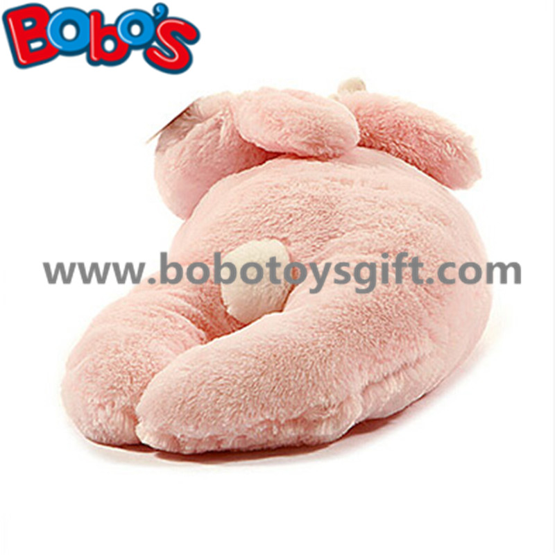 Soft Plush Pink Color Rabbit Stuffed Animal Toy Long Bunny Body Pillow