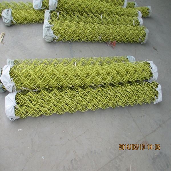 Lower Price Useful Galvanized Chain Link Fence / PVC Coated Fencing China Golden Supplier